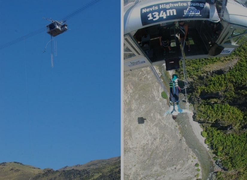 The Nevis Bungy Jump in New Zealand