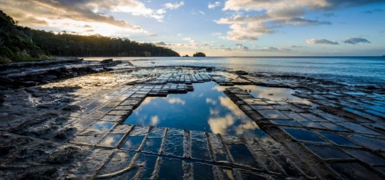 Where to visit in Tasmania - The Tessellated Pavement