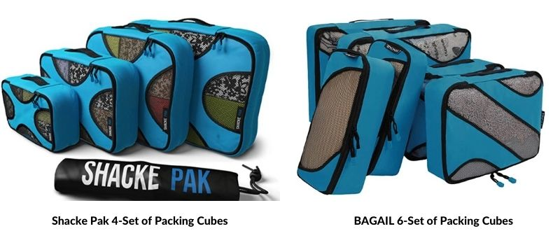 Best Set of Packing Cubes - BAGAIL & SHACKE PACK