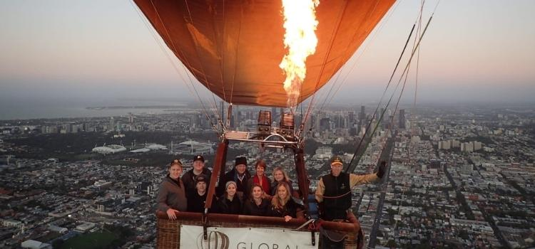 The Team together at Global Ballooning Australia