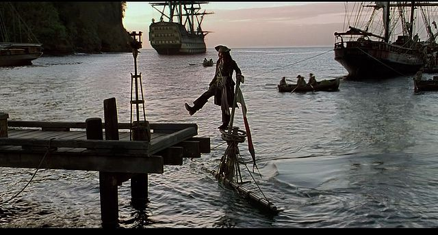 Pirates of The Carribean vibes on the Enterprize