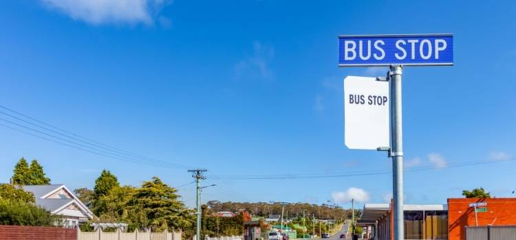 Catching a Bus in Tasmania